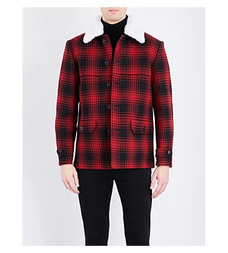 KENT & CURWEN Check-print wool-felt jacket (Artic p2176