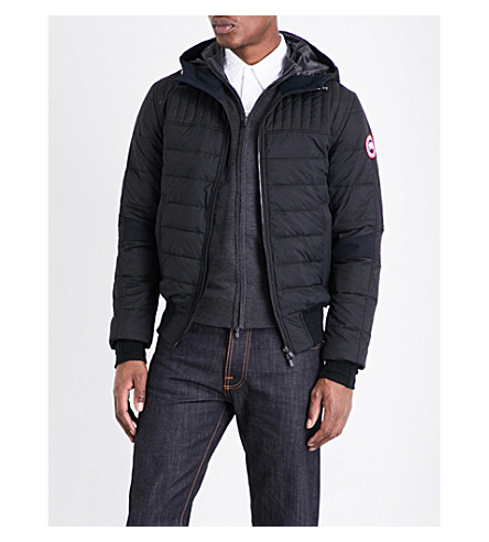 CANADA GOOSE Cabri hooded shell-down jacket (Black