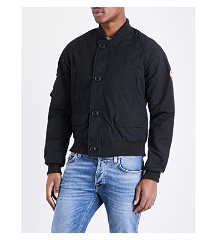 CANADA GOOSE Fader shell bomber jacket (Black