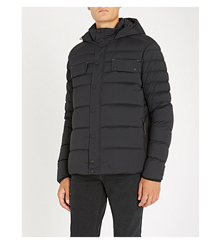 BELSTAFF Quilted shell-down hooded jacket