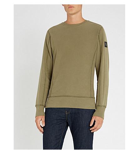 BELSTAFF 平纹针织棉卫衣 (潮湿 + 绿色) 下
