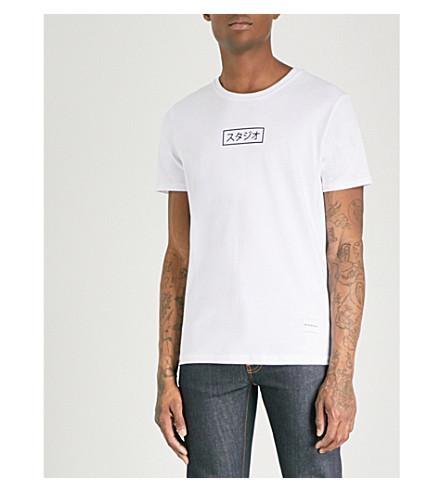 MKI MIYUKI-ZOKU Printed cotton-jersey T-shirt (White