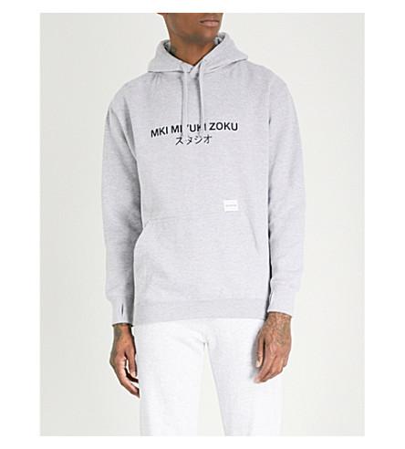 MKI MIYUKI-ZOKU Classic logo-print cotton-blend hoody (Grey