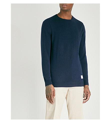 MKI MIYUKI-ZOKU Crewneck wool and cashmere-blend jumper (Navy