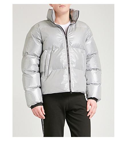 MKI MIYUKI-ZOKU Funnel neck shell-down puffer jacket (3m+reflective