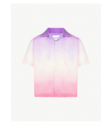 MKI MIYUKI-ZOKU Vacation regular-fit shell shirt (Purple+pink