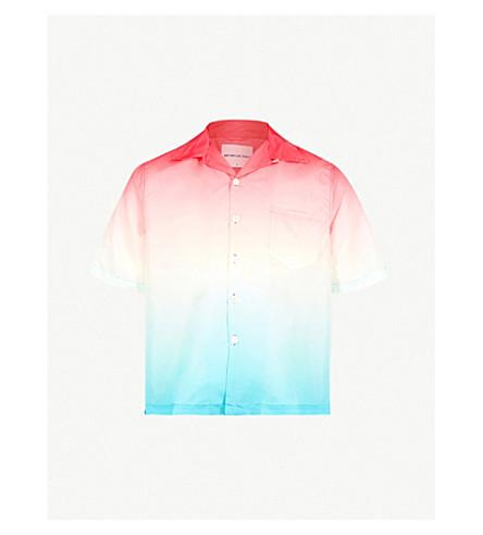 MKI MIYUKI-ZOKU Vacation regular-fit shell shirt (Red blue