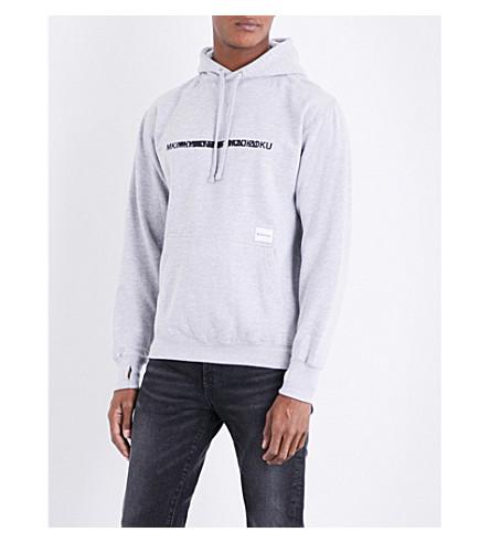 MKI MIYUKI-ZOKU Logo-print cotton-jersey hoody (Grey