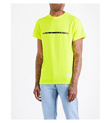 MKI MIYUKI-ZOKU Layered logo-print cotton-jersey T-shirt (Flo+yellow