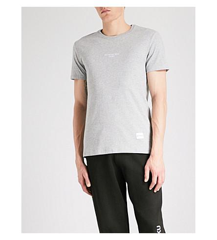 MKI MIYUKI-ZOKU Embroidered-logo cotton-jersey T-shirt (Grey