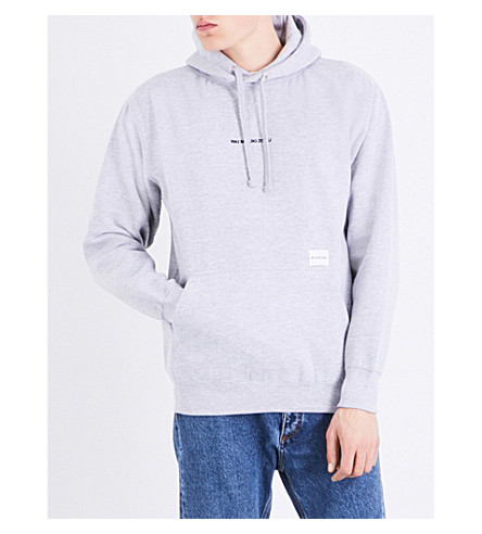 MKI MIYUKI-ZOKU Embroidered-logo cotton-blend hoody (Grey