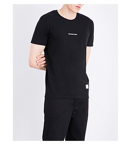MKI MIYUKI-ZOKU Embroidered-logo cotton-jersey T-shirt (Black