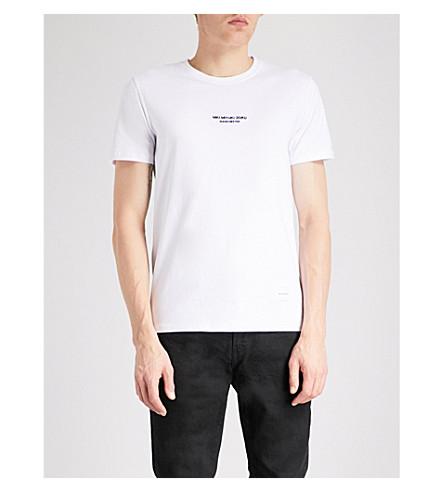 MKI MIYUKI-ZOKU Manchester Logo cotton-jersey T-shirt (White