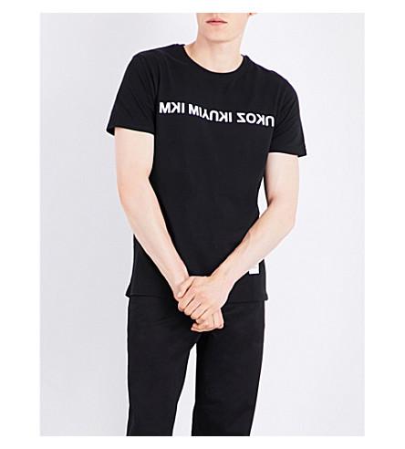 MKI MIYUKI-ZOKU Logo-print cotton-jersey T-shirt (Black