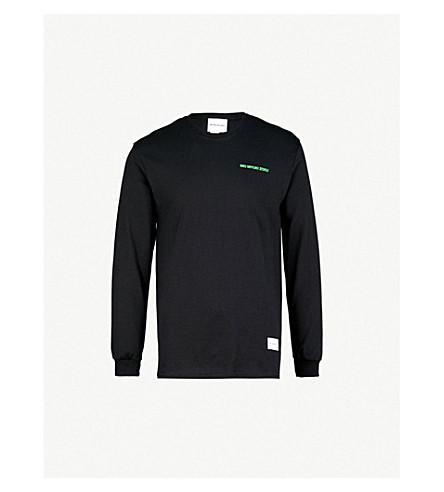 MKI MIYUKI-ZOKU Logo-print cotton-jersey top (Black+/+green