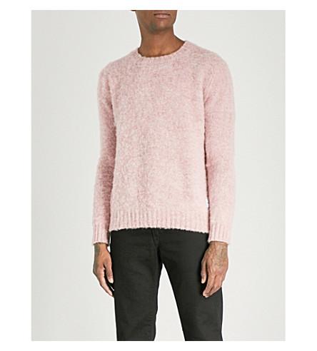 MKI MIYUKI-ZOKU Crewneck Shetland wool jumper (Pink