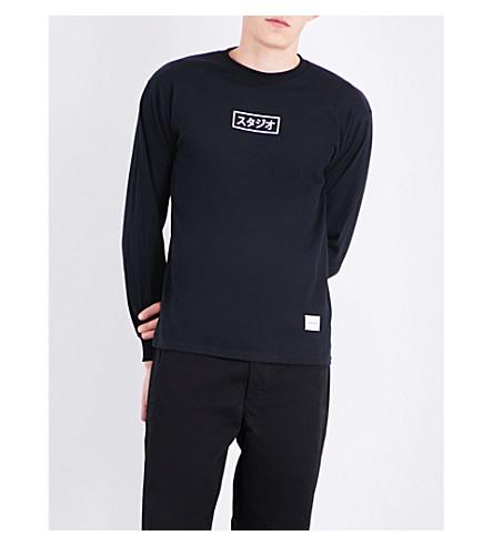 MKI MIYUKI-ZOKU Studio Box cotton-jersey top (Black
