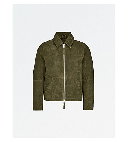 MKI MIYUKI-ZOKU Suede flight jacket (Olive