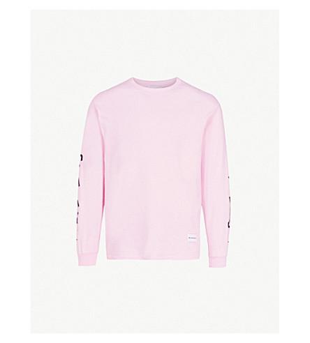 MKI MIYUKI-ZOKU Symbol-sleeve cotton-jersey top (Pink