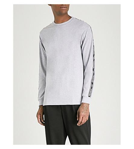 MKI MIYUKI-ZOKU Branded side-stripe cotton-blend sweatshirt (Grey