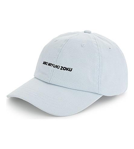 MKI MIYUKI-ZOKU Logo cotton cap (Pastel+blue
