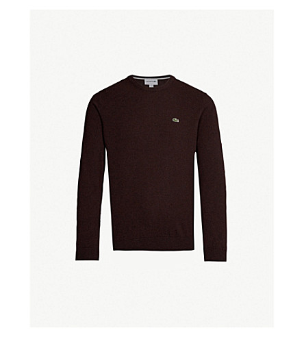 LACOSTE Logo-embroidered wool sweater (Vertigo/navy
