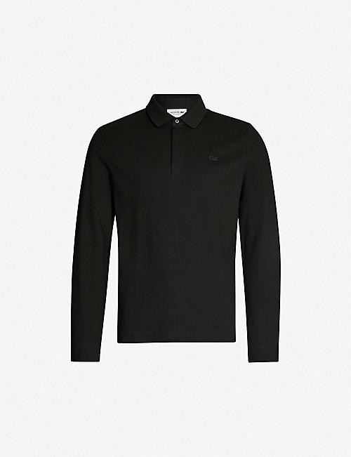 LACOSTE Logo-embroidered cotton-piqué polo shirt 8c7e13102d70