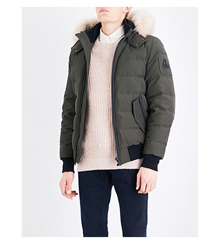 MOOSE KNUCKLES Snowden shell-down jacket (Olive/sly+beige