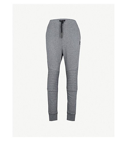 MOOSE KNUCKLES Foxtrap cotton-jersey jogging bottoms (Charcoal