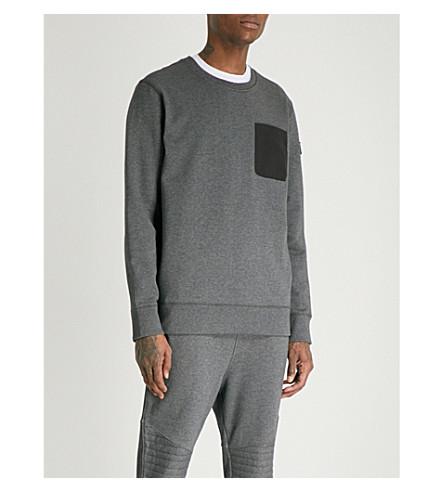MOOSE KNUCKLES Grasslands cotton-jersey sweatshirt (Charcoal