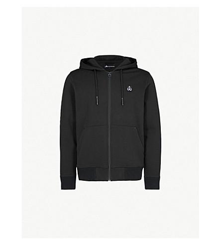 MOOSE KNUCKLES Northarm cotton-jersey hoody (Black