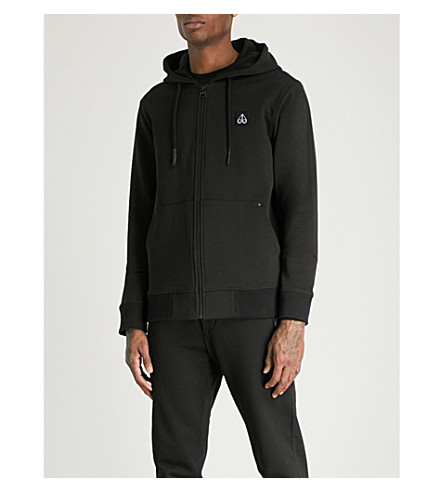 MOOSE KNUCKLES Northarm cotton-jersey hoody (Black