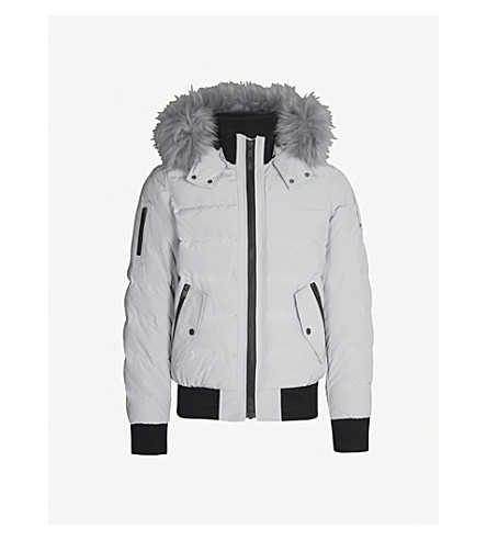 MOOSE KNUCKLES Glace Bay shell-down bomber jacket (Gray birch