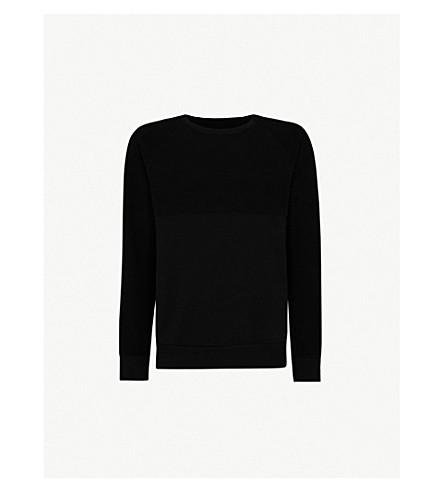 LES BASICS Le 5050 cotton-jersey sweatshirt (Black
