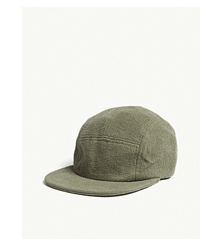 LES BASICS Le Peak towelling fitted cap (Army