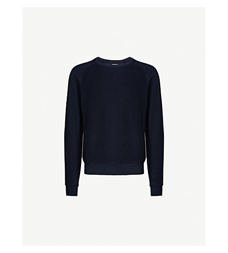 LES BASICS Le Crew cotton-jersey sweatshirt (Navy