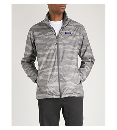 PATAGONIA Light & Variable camouflage-print shell jacket (Rock+camo+hex+grey