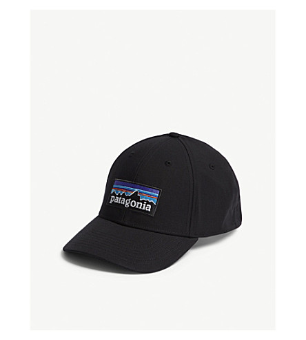 PATAGONIA Logo stretch-fit baseball cap (Black
