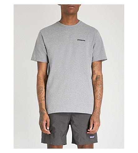 PATAGONIA Logo-print recycled cotton-blend T-shirt (Gravel heather