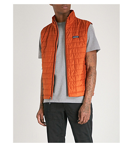 PATAGONIA Nano Puff recycled shell-down gilet (Copper+ore