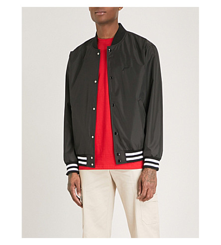POST DETAILS Drama Club shell bomber jacket (Black