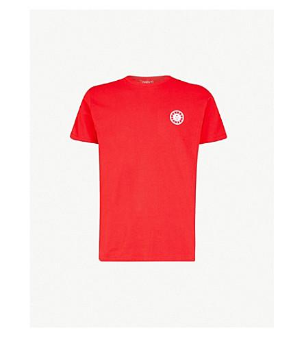 POST DETAILS Shuffleboard cotton-jersey T-shirt (Red