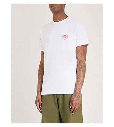 POST DETAILS Shuffleboard cotton-jersey T-shirt (White