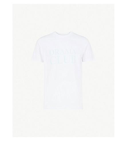 POST DETAILS Drama Club cotton-jersey T-shirt (White