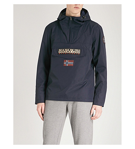 NAPAPIJRI Logo-patch hooded shell jacket (Blue+marine