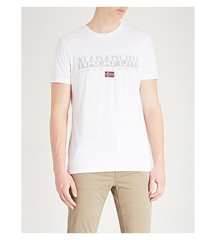 white T print Sapriol Bright shirt cotton logo NAPAPIJRI jersey ZxX8qEFPZw