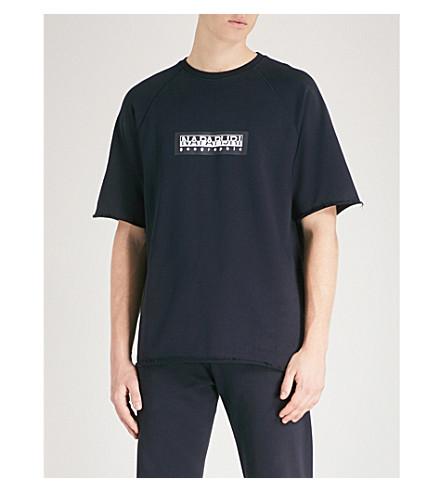 NAPAPIJRI Logo-print cotton-jersey T-shirt (Blue+marine