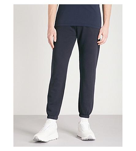 NAPAPIJRI Maray logo-print cotton-jersey jogging bottoms (Blue+marine