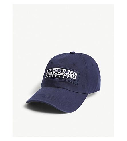 NAPAPIJRI Logo cotton strapback cap (Blue+marine