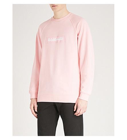 NAPAPIJRI Logo-print cotton-jersey sweatshirt (Light+pink